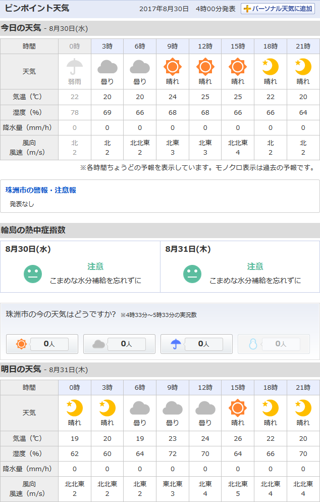 08-30天気予報