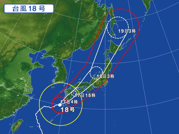 09/17の台風18号